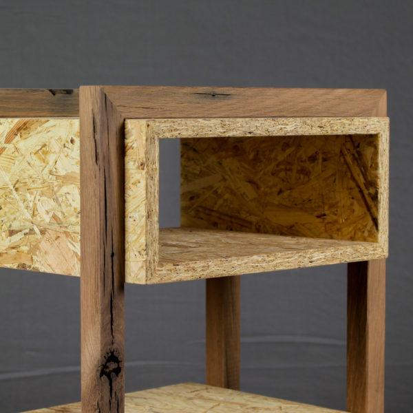 nachttisch beistelltisch osb alteiche designermöbel